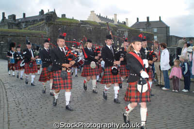 stirling castle marching pipe band music musicians musical arts misc. tartan kilts stirlingshire scotland scottish scotch scots escocia schottland great britain united kingdom british