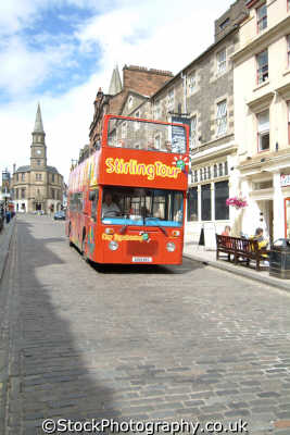 stirling tour bus uk towns environmental tourism stirlingshire scotland scottish scotch scots escocia schottland great britain united kingdom british
