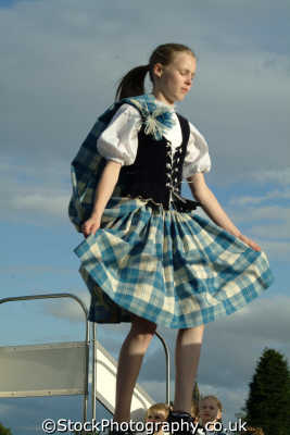young woman highland dancing human activities people persons kilt stirling stirlingshire scotland scottish scotch scots escocia schottland great britain united kingdom british