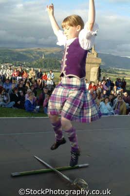 girl highland dancing swords people persons tartan kilt stirling stirlingshire scotland scottish scotch scots escocia schottland great britain united kingdom british