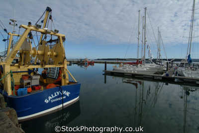 poole fishing boats harbour harbor uk coastline coastal environmental dorset england english great britain united kingdom british