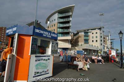 poole brownsea island ferry booking office quay seafront uk coastline coastal environmental dorset england english great britain united kingdom british
