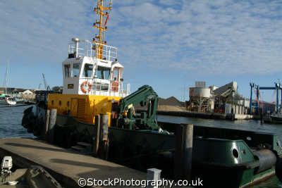 poole dredger boats marine misc. dorset england english great britain united kingdom british