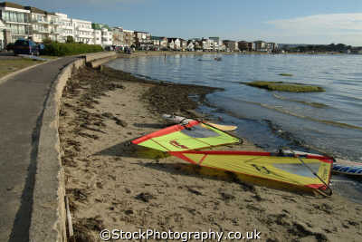 sandbanks poole harbour. famous widsurfing expensive property uk extreme sports adrenaline sporting dorset england english great britain united kingdom british