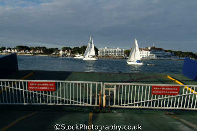 poole harbour yachts seen sandbanks ferry yachting sailing sailboats boats marine misc. dorset england english great britain united kingdom british