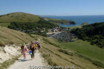 dorset coastal path lulworth cove uk coastline environmental walkers hikers rambling england english great britain united kingdom british