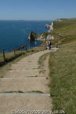 dorset coastal path durdle door uk coastline environmental walkers hikers rambling england english great britain united kingdom british