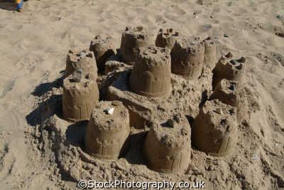 sandcastles british beaches coastal coastline shoreline uk environmental swanage purbeck dorset england english great britain united kingdom