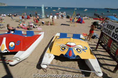 swanage beach pedaloes british beaches coastal coastline shoreline uk environmental purbeck dorset england english great britain united kingdom