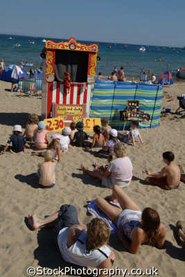 punch judy british beaches coastal coastline shoreline uk environmental swanage purbeck dorset england english great britain united kingdom