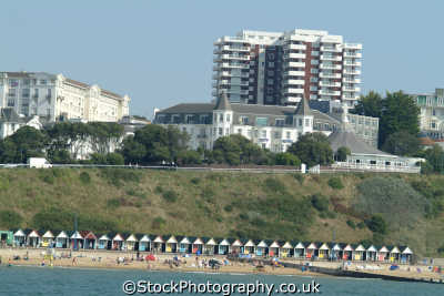 bournemouth seafront beach bathing huts uk coastline coastal environmental dorset england english great britain united kingdom british