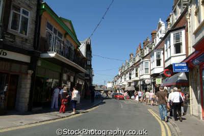 swanage high street uk towns environmental purbeck dorset england english great britain united kingdom british