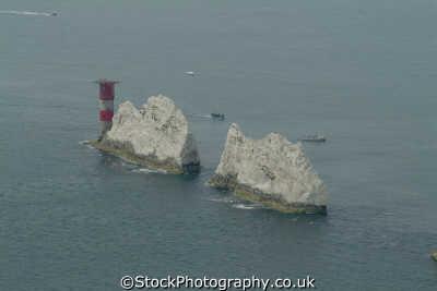 isle wight needles lighthouse uk coastline coastal environmental england english great britain united kingdom british