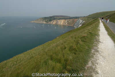 isle wight alum bay coastal path uk coastline environmental england english great britain united kingdom british