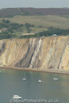 isle wight alum bay coloured sands minerals uk coastline coastal environmental quartz england english great britain united kingdom british