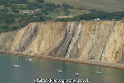 isle wight alum bay coloured sands minerals uk coastline coastal environmental quartz england english great britain united kingdom british