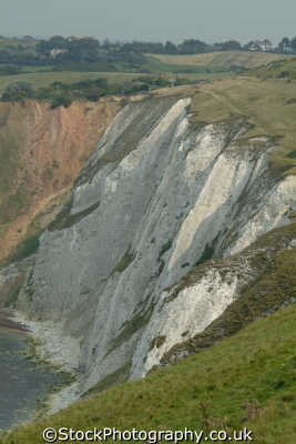 isle wight alum bay chalk mineral cliffs uk coastline coastal environmental quartz england english great britain united kingdom british