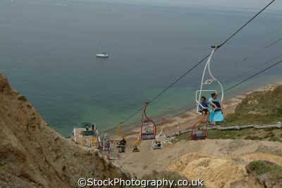 isle wight alum bay chair lift uk coastline coastal environmental quartz england english great britain united kingdom british