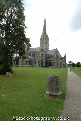 salisbury cathedral north walk uk cathedrals worship religion christian british architecture architectural buildings magna carta wiltshire wilts england english great britain united kingdom