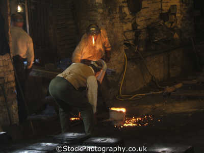 casting metal foundry trades crafts working people persons staffordshire staffs england english great britain united kingdom british