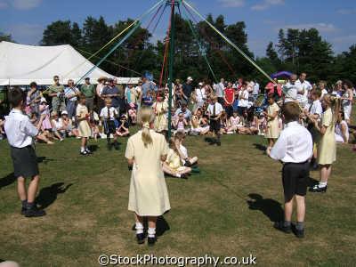 children maypole dancing human activities people persons hertfordshire herts england english great britain united kingdom british