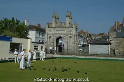 crown green bowls helston cornwall bowling lawn sports sporting uk cornish england english great britain united kingdom british