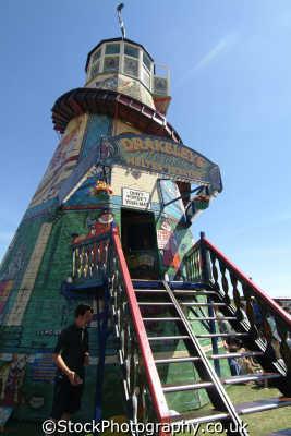 drakelys original helter skelter fairground carnival fairs leisure uk cornwall cornish england english great britain united kingdom british