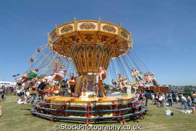 mannings flying chair planes fairground carnival fairs leisure uk cornwall cornish england english great britain united kingdom british