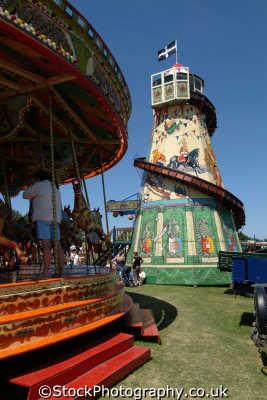 fairground rides carnival fairs leisure uk cornwall cornish england english great britain united kingdom british