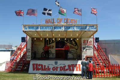hell riders wall death stunt motorcycles british motorbikes transport transportation uk cornwall cornish england english great britain united kingdom