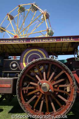 fairground steam engine engines transport transportation uk cornwall cornish england english great britain united kingdom british