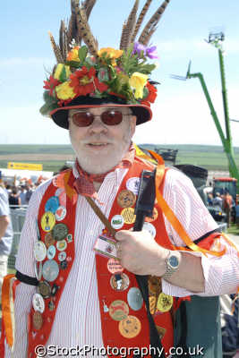 morris dancer costumes costumed people persons cornwall cornish england english great britain united kingdom british
