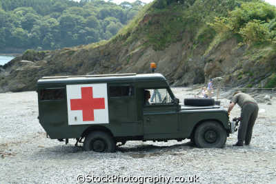 landrover trapped sand land rover off-road off road offroad motoring driving motor cars automobiles transport transportation uk red cross cornwall cornish england english great britain united kingdom british