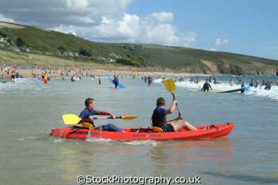 man ocean kayak watersports aquatic sports sporting uk kayaking paddles cornwall cornish england english great britain united kingdom british