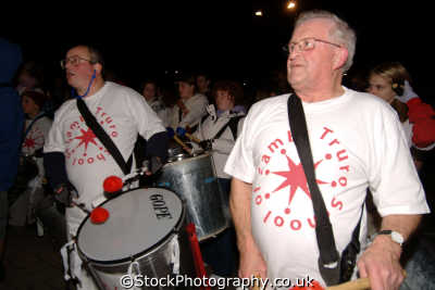 truro festival lights drum band south west towns england southwest country english uk parade cornish cornwall great britain united kingdom british