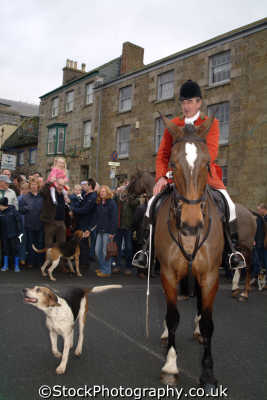 huntsmen hounds helston prior christmas hunt fox hunting blood banned sports sporting uk cornwall cornish england english great britain united kingdom british