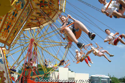fairground ride carnival fairs leisure uk spinning cornwall cornish england english great britain united kingdom british