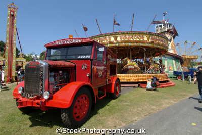 scammell truck carousel fairground carnival fairs leisure uk carnie carny carney cornwall cornish england english great britain united kingdom british