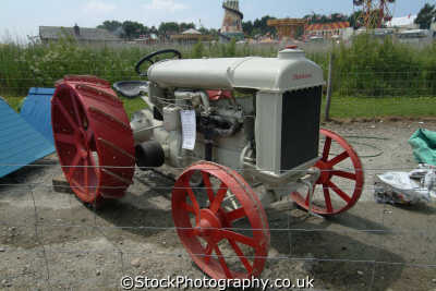 vintage fordson tractor transport transportation uk cornwall cornish england english great britain united kingdom british