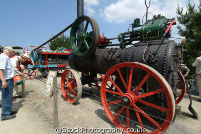 garret portable steam engine 6hp single cylinder engines transport transportation uk cornwall cornish england english great britain united kingdom british