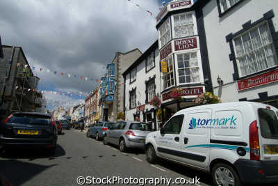 honiton devon high street royal lion pub south west england southwest country english uk devonian great britain united kingdom british