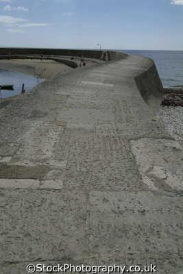 cobb lyme regis dorset breakwater famous french lieutenant woman movie harbour harbor uk coastline coastal environmental england english great britain united kingdom british