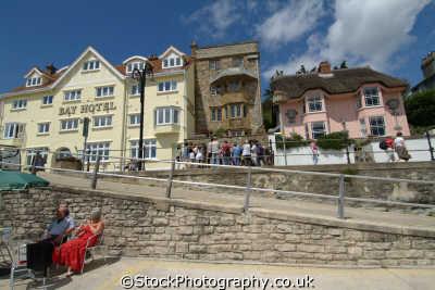 lyme regis dorset bay hotel marine parade seafront uk coastline coastal environmental england english great britain united kingdom british