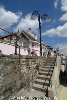 lyme regis dorset steps marine parade seafront uk coastline coastal environmental england english great britain united kingdom british