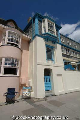 lyme regis dorset houses marine parade seafront uk coastline coastal environmental england english great britain united kingdom british
