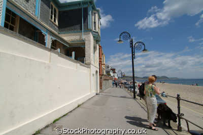 lyme regis dorset marine parade seafront uk coastline coastal environmental england english great britain united kingdom british