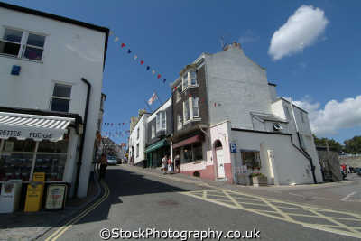 lyme regis dorset broad street south west towns england southwest country english uk great britain united kingdom british