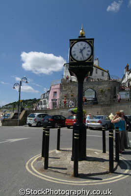 lyme regis dorset town clock south west towns england southwest country english uk great britain united kingdom british