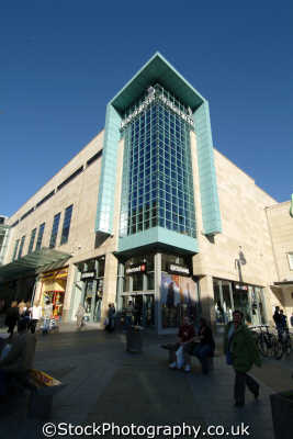 plymouth devon drakes circus shopping centre south west entrance uk centres retailers trade centers commercial buildings british architecture architectural devonian england english great britain united kingdom