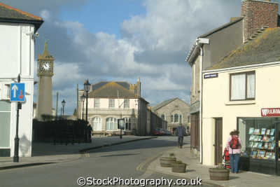 st just clocktower south west towns england southwest country english uk cornwall cornish great britain united kingdom british